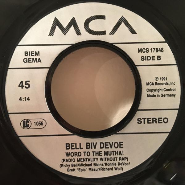 ☆Bell Biv DeVoe/Word To The Mutha☆R&B NEW JACK SWING名曲!7inch 45_画像3