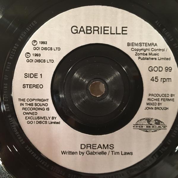 ☆Gabriel/Dreams☆UK SOUL/R&B名作!7inch 45_画像2