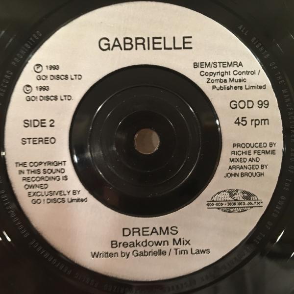 ☆Gabriel/Dreams☆UK SOUL/R&B名作!7inch 45_画像3