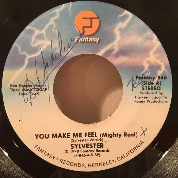 ☆Sylvester/You Make Me Feel (Mighty Real)☆アップリフティングなDISCO名作!7inch 45_画像1