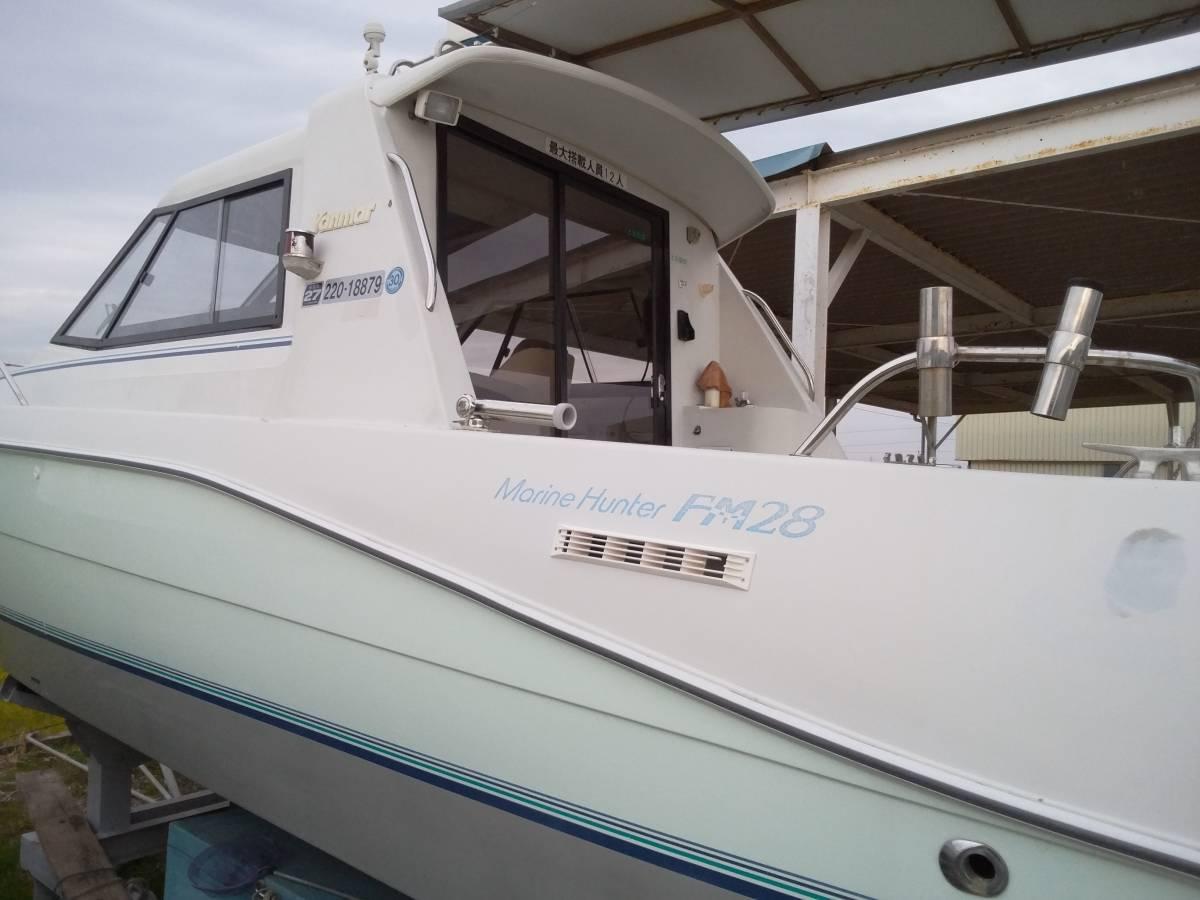 ヤンマー FM28・新艇から陸上保管_画像10