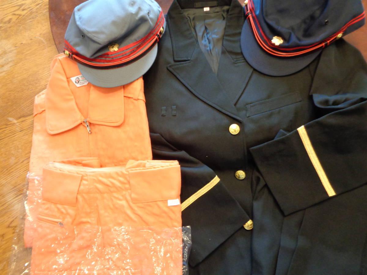 新品★耐熱性上着、防炎ズボン 黒礼装上着、ズボン 帽子 2色★6点 消防団