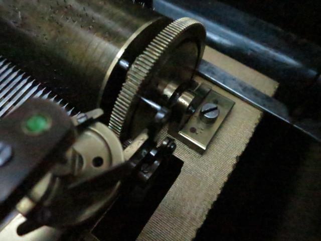 :【古都京都】「アンテークオルゴールB-367」オルゴール・蓄音機.シリンダー〝オ〟_画像7