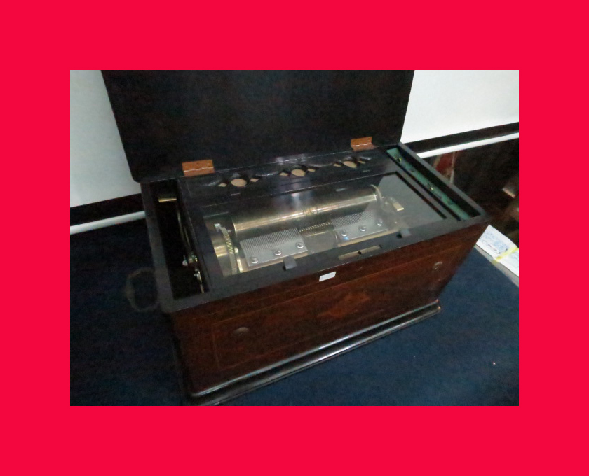:【古都京都】「アンテークオルゴールB-367」オルゴール・蓄音機.シリンダー〝オ〟_風琴付きのアンテークオルゴールです。