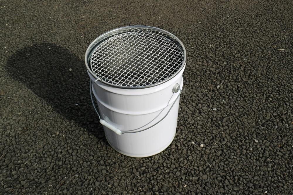 ステンレス製 バーベキューコンロ (市販ペール缶セット) _画像1