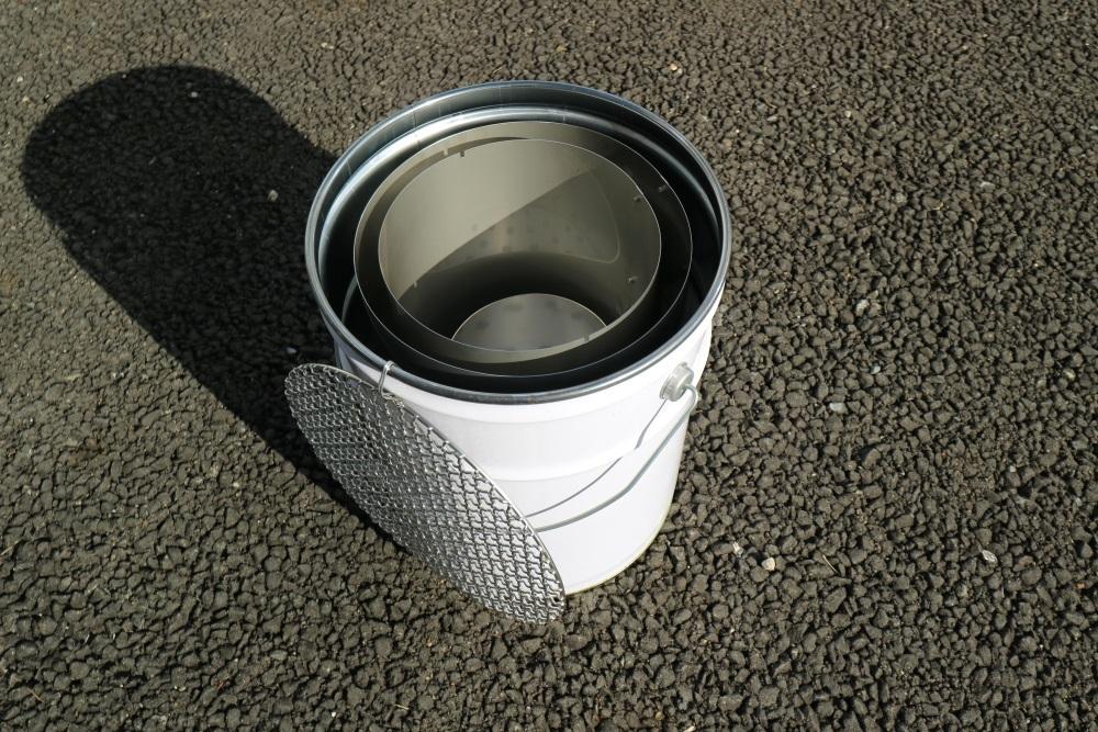 ステンレス製 バーベキューコンロ (市販ペール缶セット) _画像2