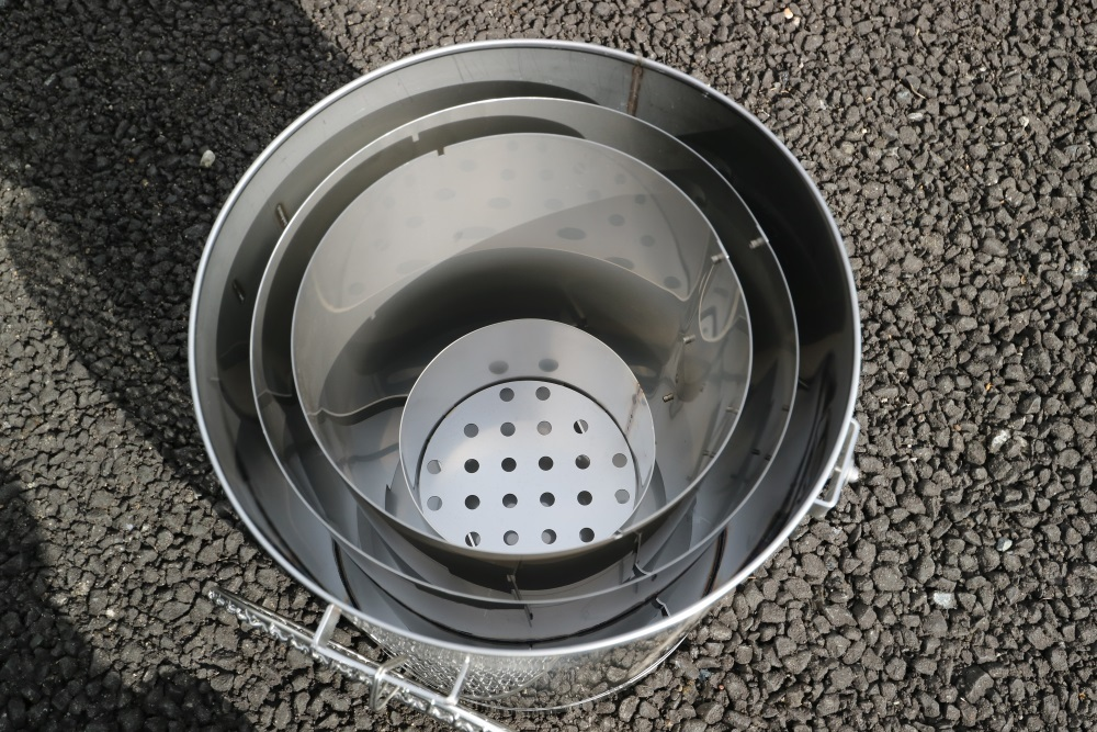 ステンレス製 バーベキューコンロ (市販ペール缶セット) _画像3