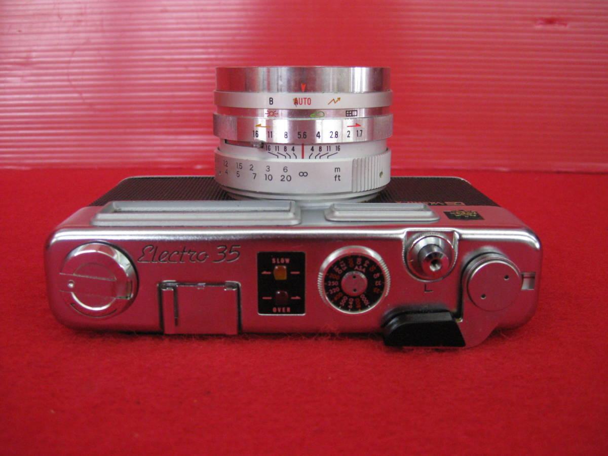 【ハッピー】YASHICA ヤシカ フィルムカメラ エレクトロ35 レトロ レンジファインダーカメラ ジャンク_画像3