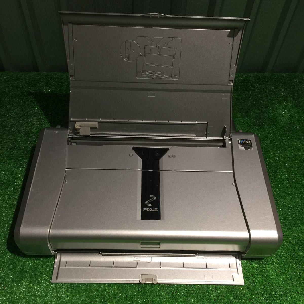 1円~ 動作確認済み キャノン Canon iP100 モバイルプリンター 印表機 インク付 80サイズ ⑥_画像4