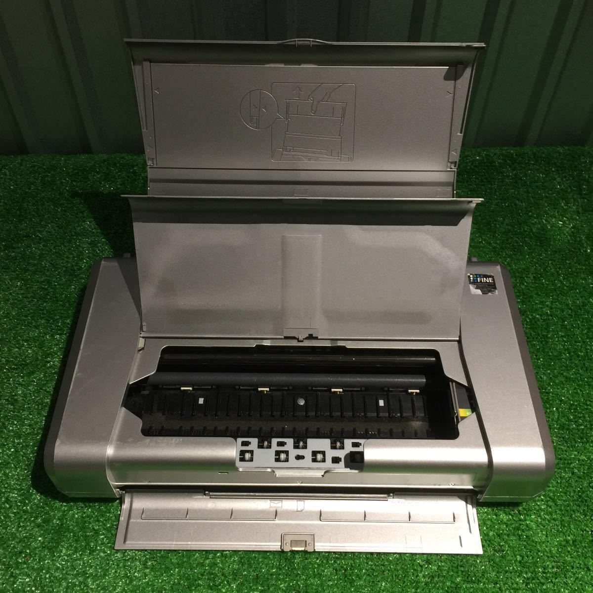 1円~ 動作確認済み キャノン Canon iP100 モバイルプリンター 印表機 インク付 80サイズ ⑥_画像5