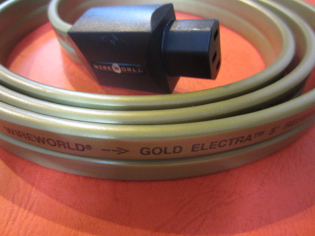 ★WIREWORLD ワイヤーワールド Gold Electra5-2 ゴールドエレクトラ 電源ケーブル 2.0m 未使用品 日本未輸入モデル WIRE WORLD★_画像9