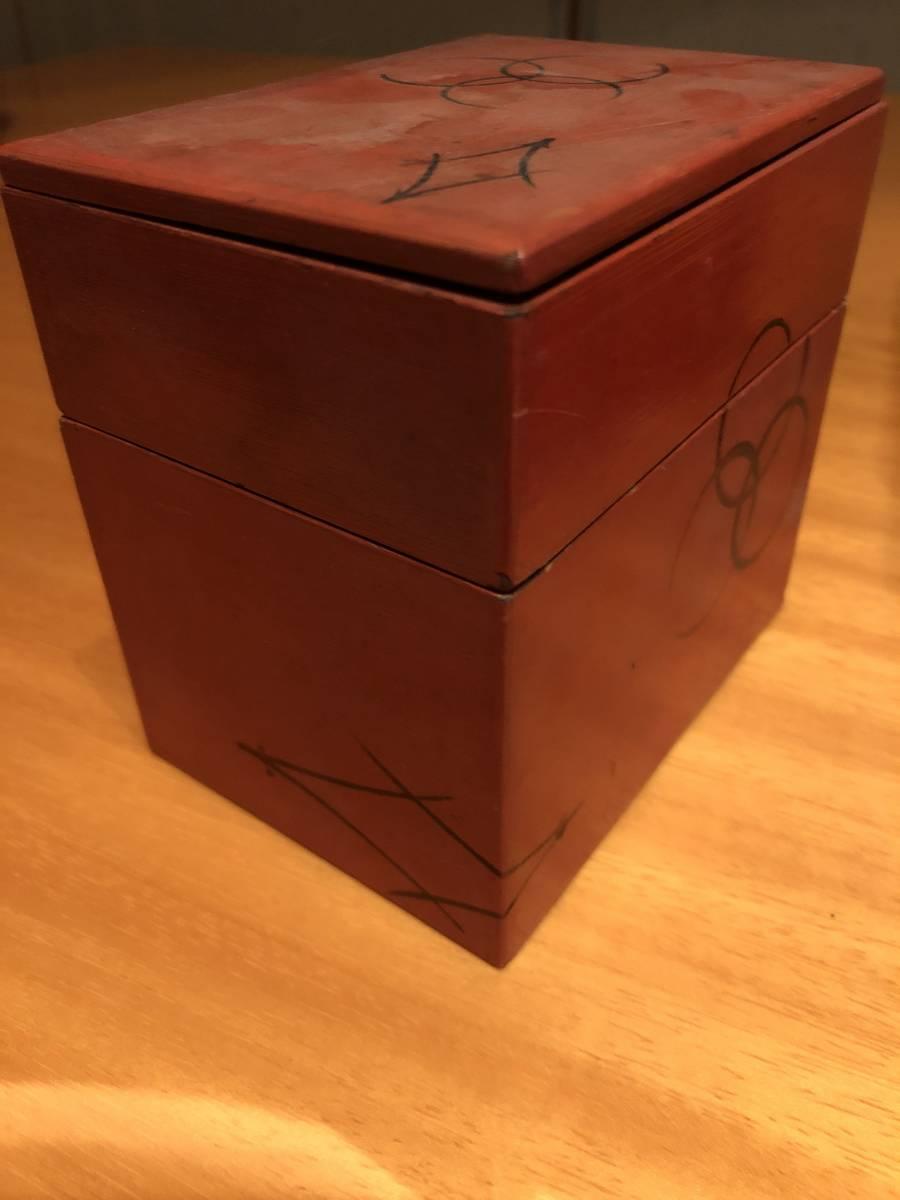 江戸期の木箱 在銘_画像1