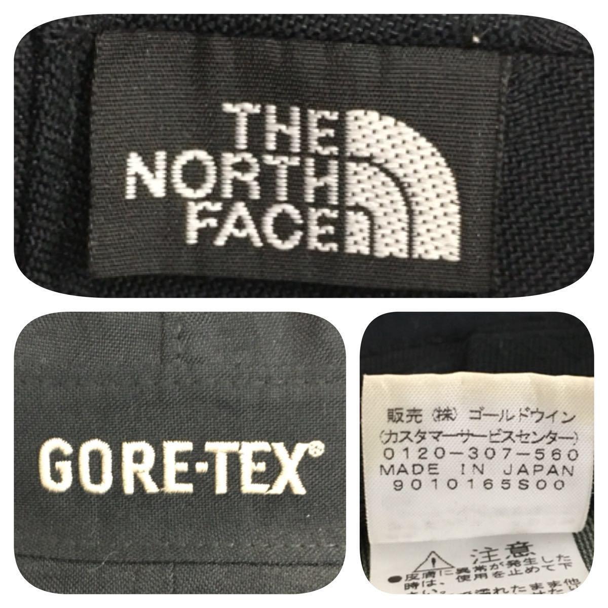 《THE NORTH FACE ノースフェイス》GORE-TEX ゴアテックス ハット ナイロン アウトドア NN80800 ブラック S_画像8