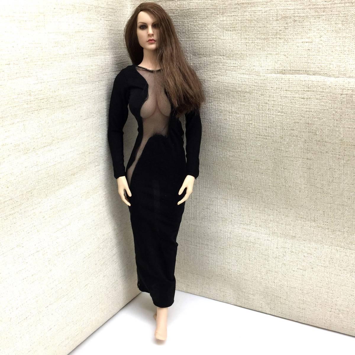 送料無料 美品 1/6サイズ PHICEN ファイセン素体対応 女性フィギュア用 ドレス 番号A58_画像1
