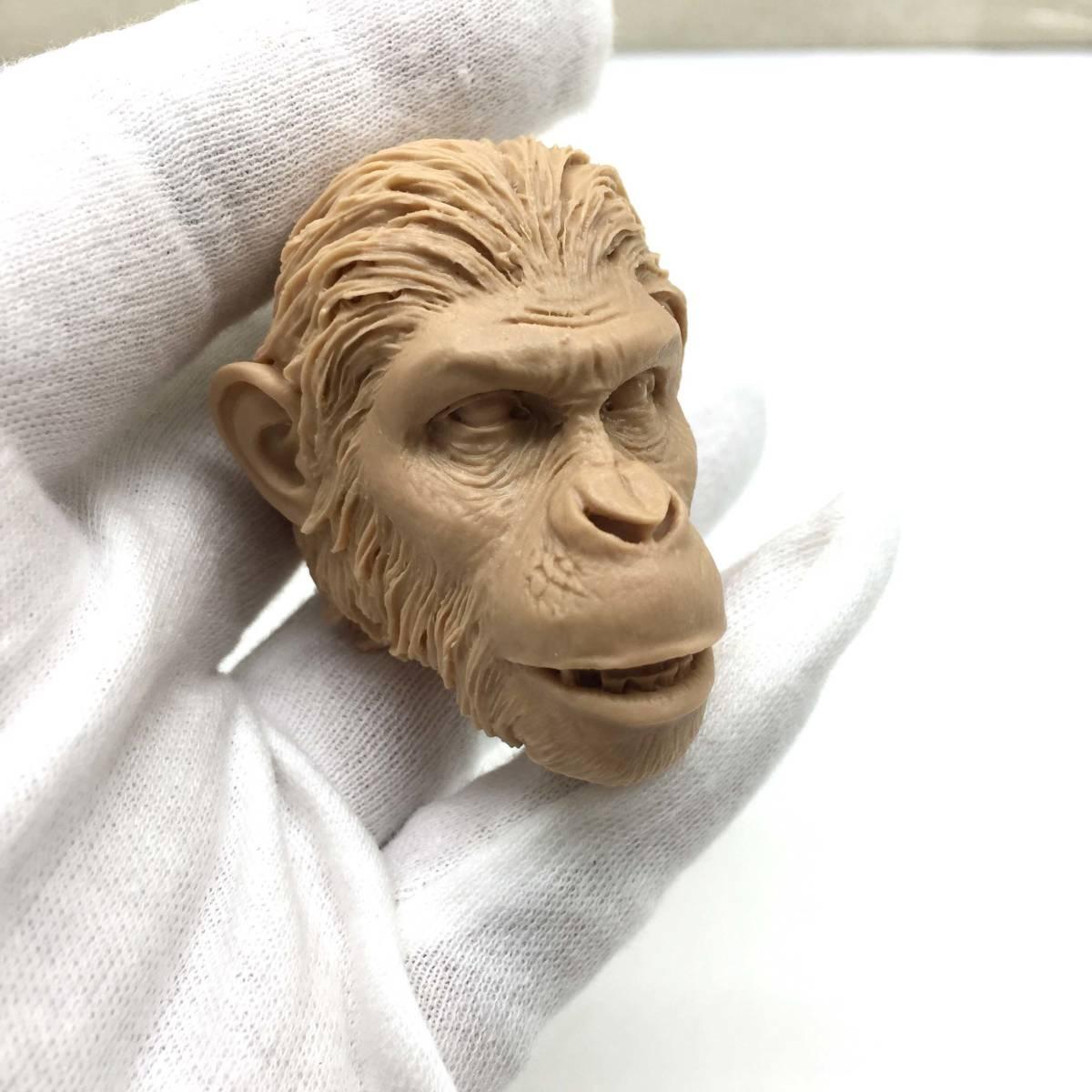 送料無料 1/6 DIY ヘッド 手作り 未塗装ヘッド 猿の惑星 番号B46_画像8