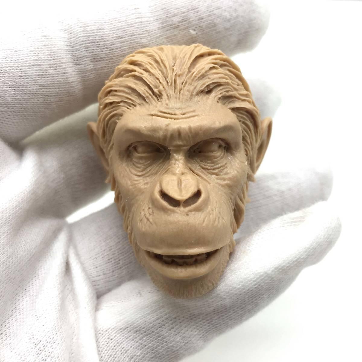 送料無料 1/6 DIY ヘッド 手作り 未塗装ヘッド 猿の惑星 番号B46_画像1