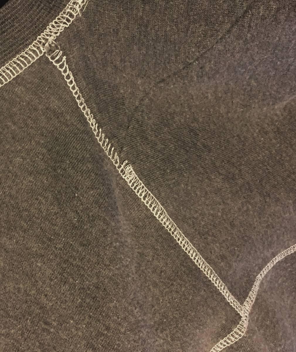 旧ロゴ刺繍90sオールドGAPスエットL⇒XLサイズ相当ビッグシルエット墨黒グレー裾デカタグ無地トレーナー90年代ビンテージ_画像5
