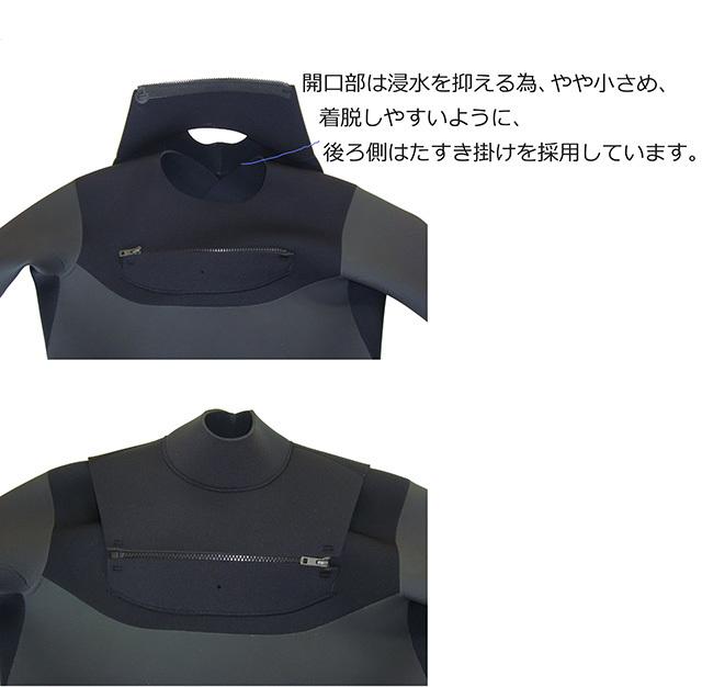 【メンズMX】国産 5x3mm チェストジップ起毛セミドライ _画像4