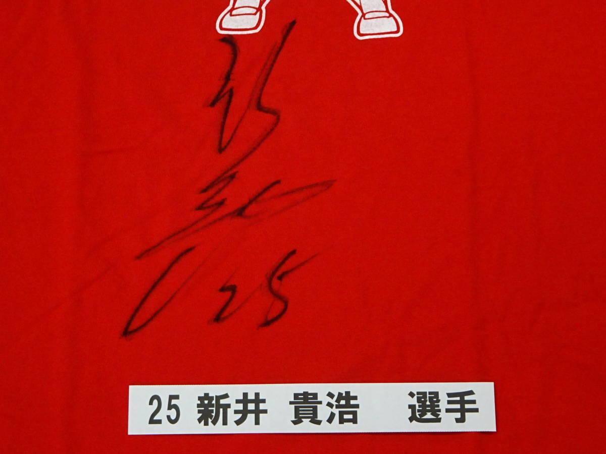 [チャリティ]カープx赤い羽根コラボ 3-28 Tシャツ 新井 貴浩_画像2