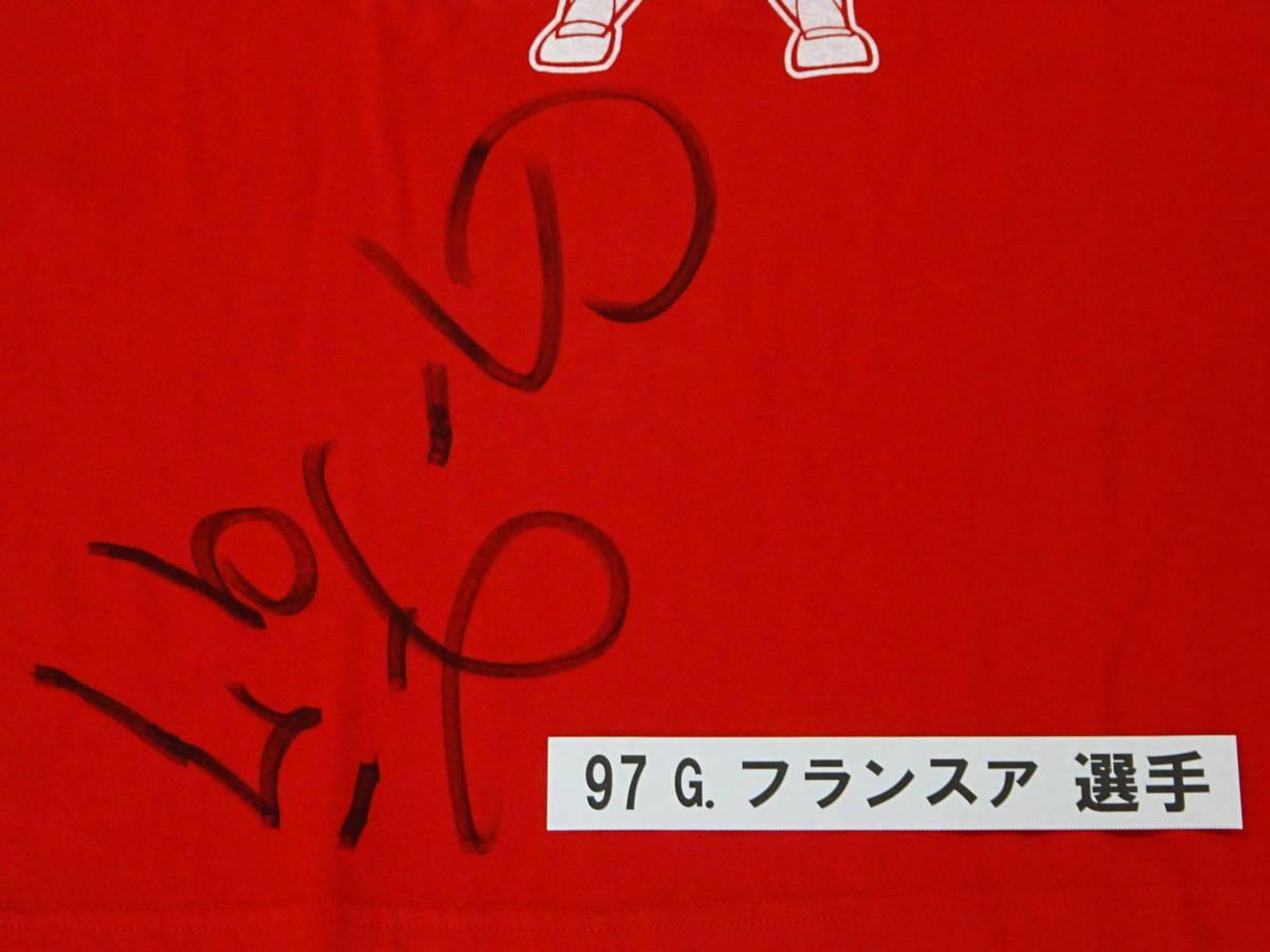 [チャリティ]カープx赤い羽根コラボ 4-36 Tシャツ G. フランスア_画像2