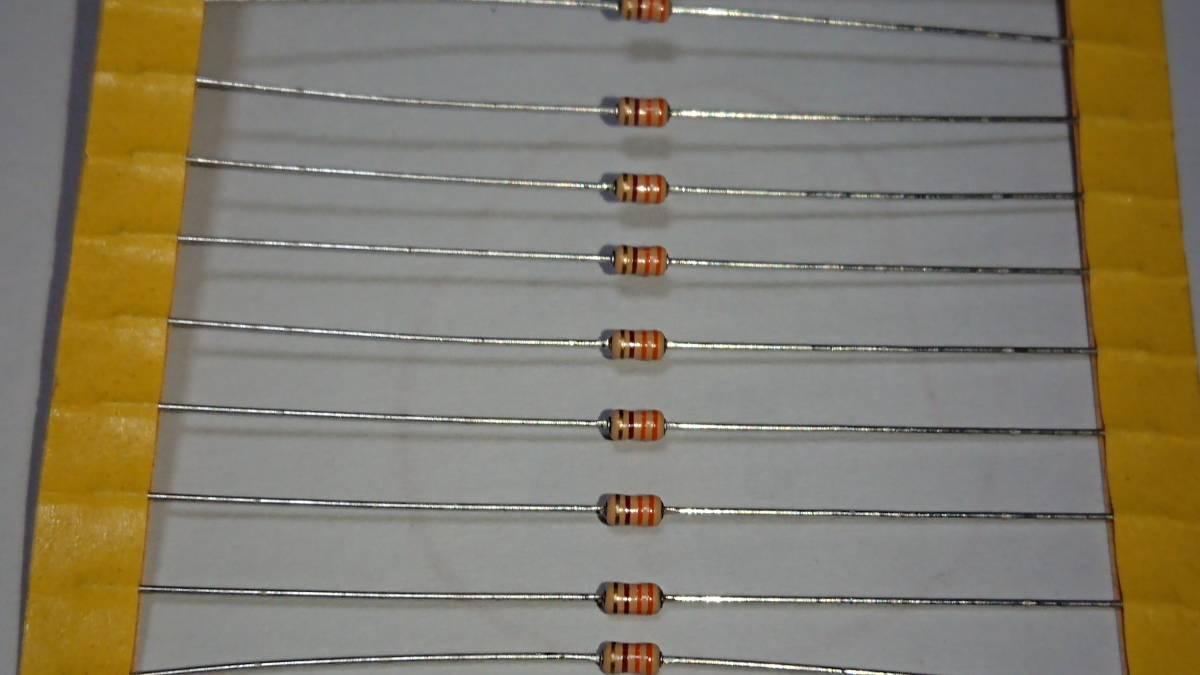 日本製 KOA RD16ST52 330Ω 1/6W 誤差±5% カーボン抵抗 炭素皮膜抵抗 アキシャルテーピング 1セット100本_カラーコード 橙橙茶金 です。