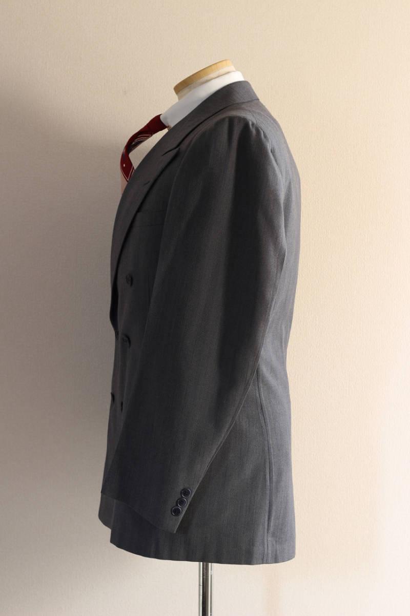 [値下げ交渉可] 1930s 1940s 高級 ビンテージ 2ピース スーツ ストライプ ブルー グレー 30s 40s 50s 2pc ツーピース dry bones RRL レトロ_画像3