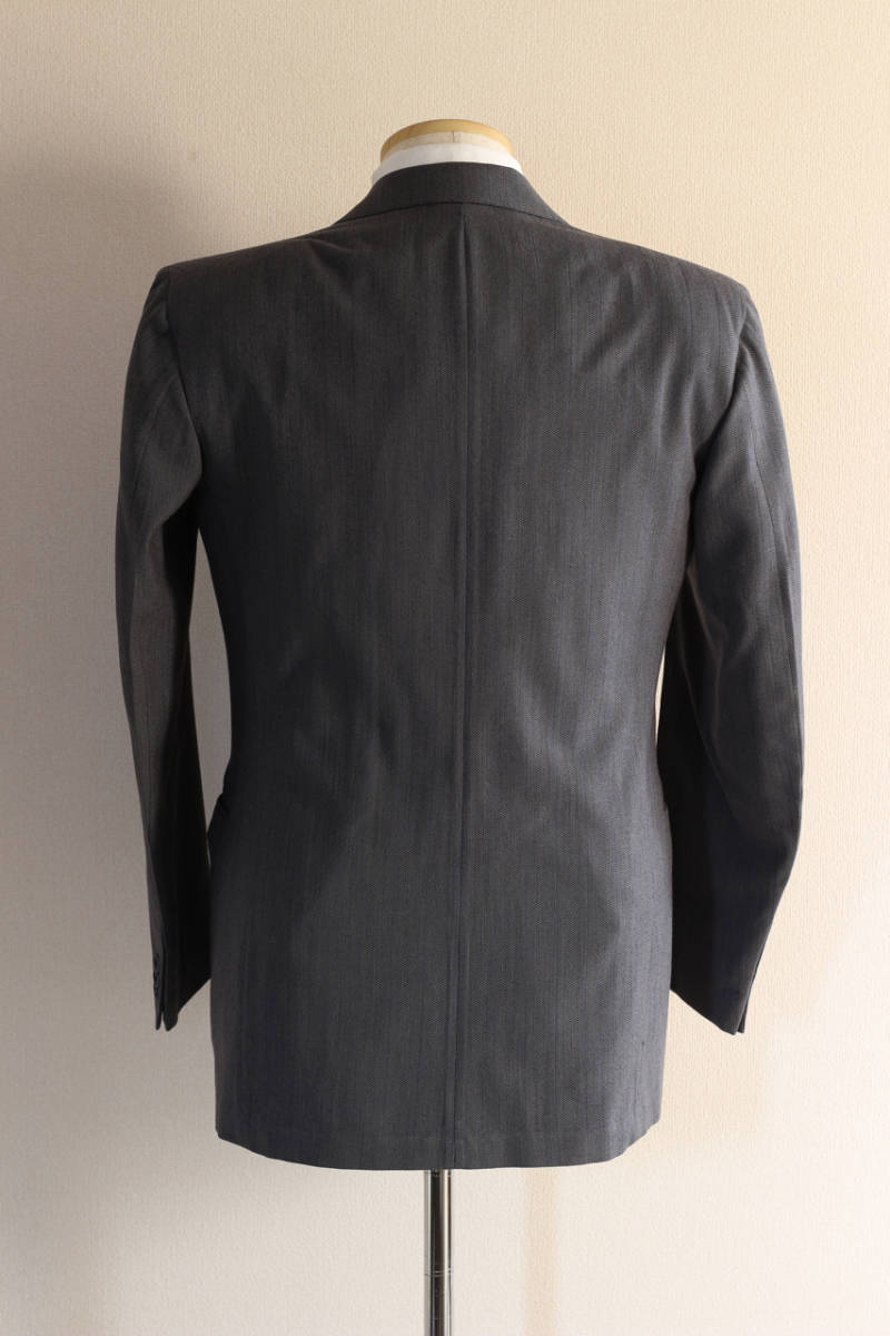 [値下げ交渉可] 1930s 1940s 高級 ビンテージ 2ピース スーツ ストライプ ブルー グレー 30s 40s 50s 2pc ツーピース dry bones RRL レトロ_画像4
