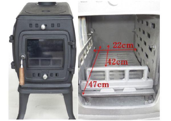 ★訳有り処分★実用型 煮炊きOK・薪40cm・薪ストーブ2053R型 ロストル付.._画像3