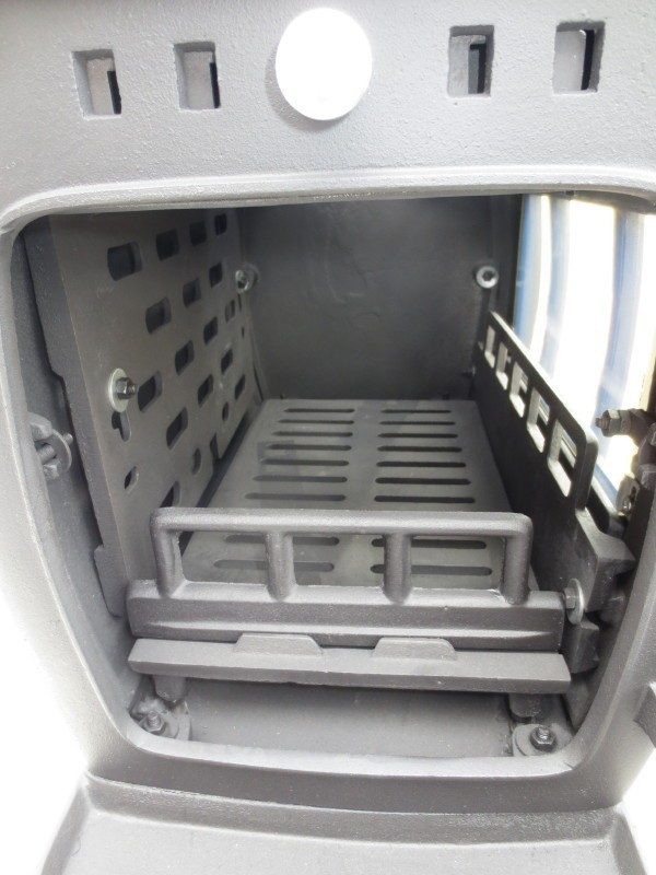 ★訳有り処分★実用型 煮炊きOK・薪40cm・薪ストーブ2053L型(左ドア仕様) ロストル付._画像4