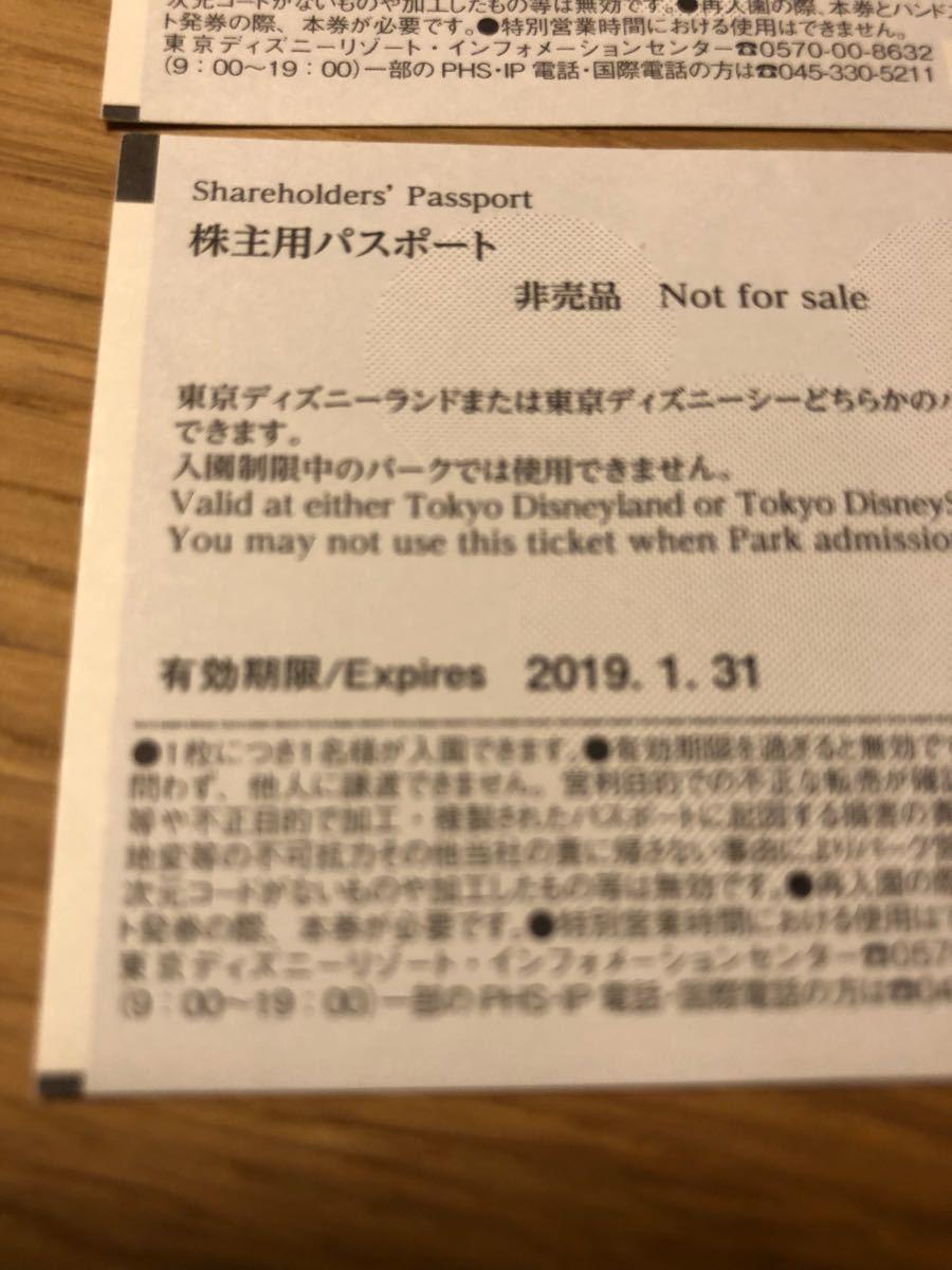 東京ディズニーリゾート 株主用パスポート ペアチケット 2019.1.31まで 送料無料_画像2