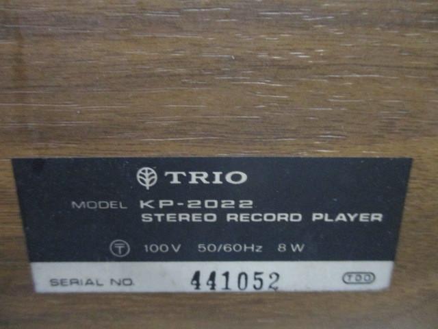 11-447 2〇TRIO レコードプレーヤー KP-2022  2〇_画像6