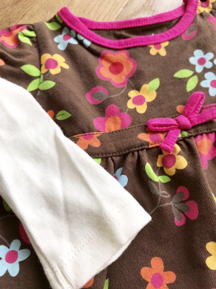 新品 インポート 海外ブランド輸入子供服 セレクトショップ ニューヨーク NYブランド アメリカ 長袖ワンピース 花柄 お出かけ カラフル_画像5