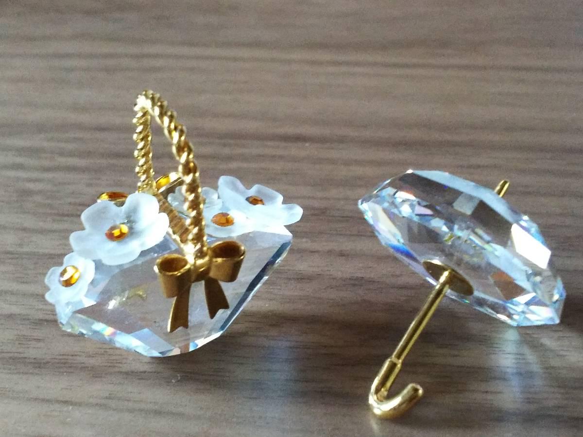 ☆ crystal glass ☆ flower basket and umbrella set of 2 figurines ③ tax!