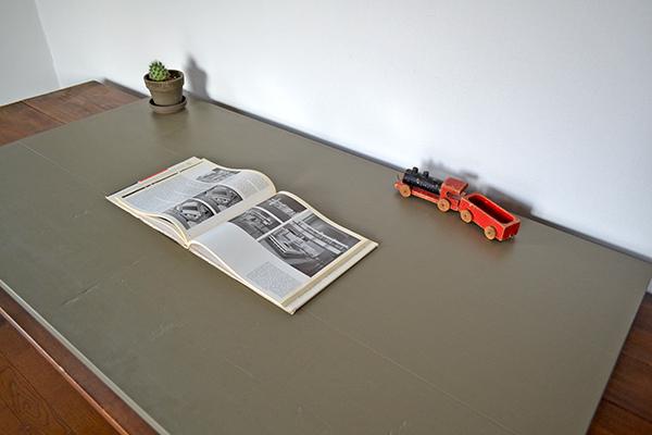 Military khaki Sawhorse Table 120 ソーホース ミリタリー テーブル 馬脚 什器 アンティーク カーキ インダストリアル オリーブ_画像4