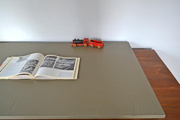 Military khaki Sawhorse Table 120 ソーホース ミリタリー テーブル 馬脚 什器 アンティーク カーキ インダストリアル オリーブ_画像5