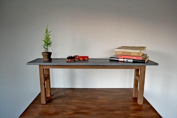ベンチ シェルフ 120 アンティーク インダストリアル 無垢 幅広 レトロ グレー 木製 大きい カフェ 什器 マルシェ_画像2