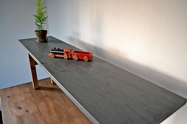 ベンチ シェルフ 120 アンティーク インダストリアル 無垢 幅広 レトロ グレー 木製 大きい カフェ 什器 マルシェ_画像1
