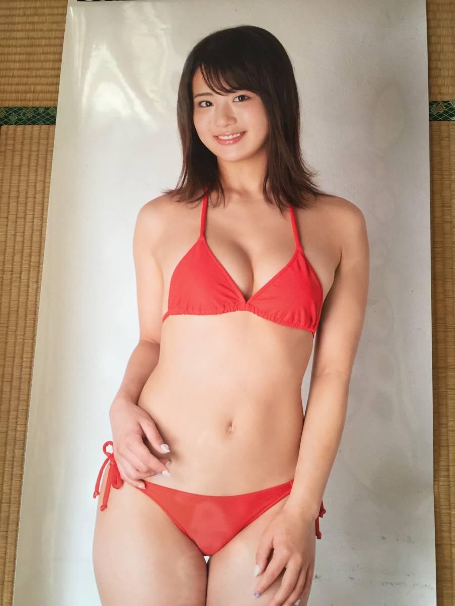 平嶋夏海 等身大ポスター アサ芸シークレット 元AKB48のメンバーが赤のビキニで神対応 新品未開封
