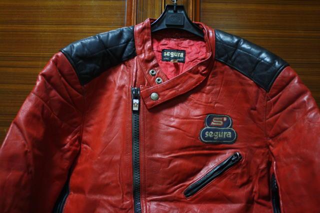 希少 赤×黒 70s ビンテージ 変型 2トン UK ロンジャン ライダース ■ モーターサイクル レザー ジャケット ユーロ イギリス ルイスレザー_画像2