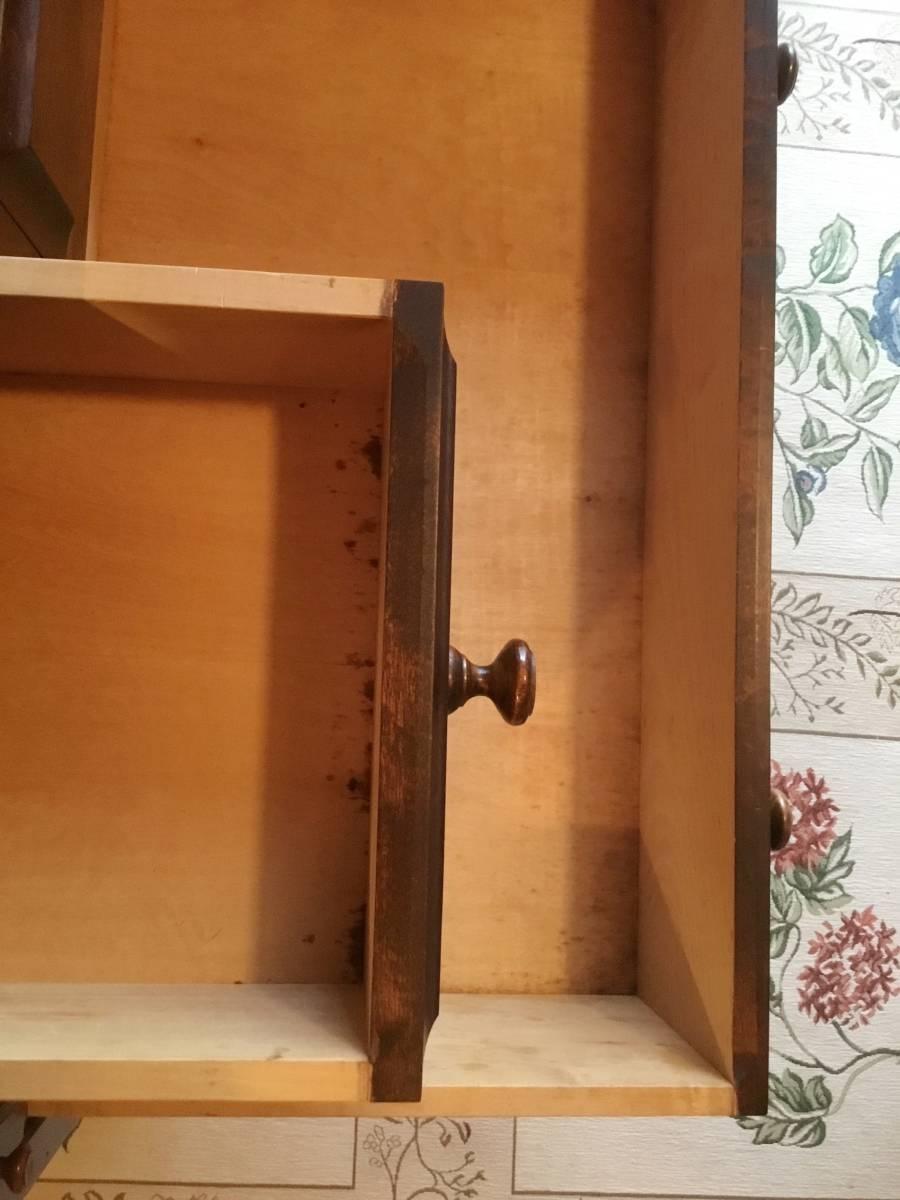 アンティークな温もり感じるライティングビューロー 飛騨家具 キツツキ 北海道民芸家具_画像5