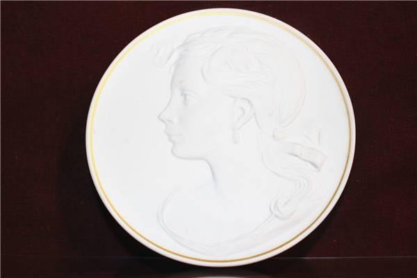 【華】ーMeissenー マイセン 陶板 メダル 中国美術 〈真作〉 ウ2755_画像2