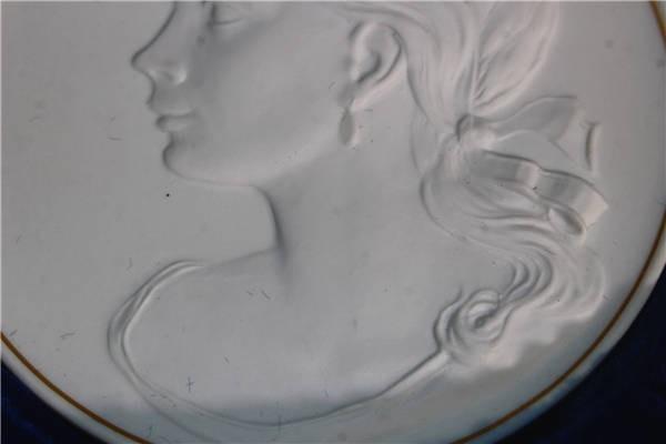 【華】ーMeissenー マイセン 陶板 メダル 中国美術 〈真作〉 ウ2755_画像4