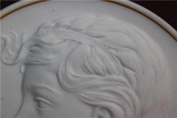 【華】ーMeissenー マイセン 陶板 メダル 中国美術 〈真作〉 ウ2755_画像5