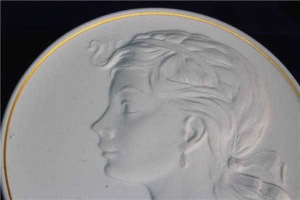 【華】ーMeissenー マイセン 陶板 メダル 中国美術 〈真作〉 ウ2755_画像3