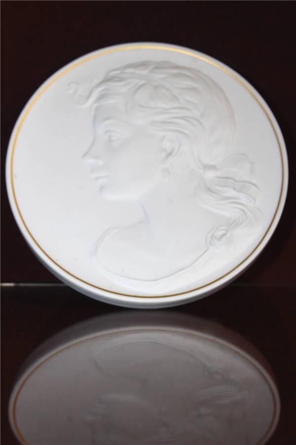 【華】ーMeissenー マイセン 陶板 メダル 中国美術 〈真作〉 ウ2755_画像10