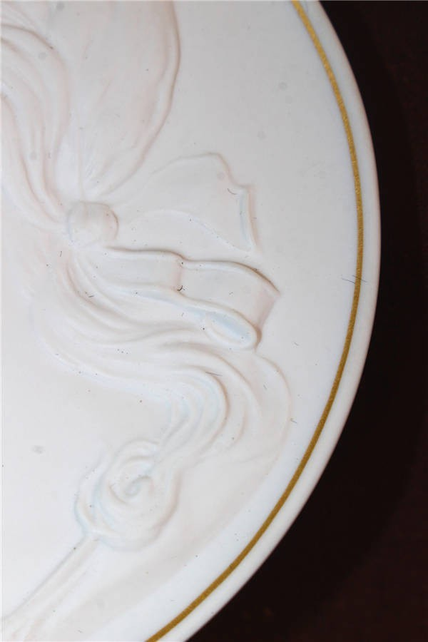 【華】ーMeissenー マイセン 陶板 メダル 中国美術 〈真作〉 ウ2755_画像6