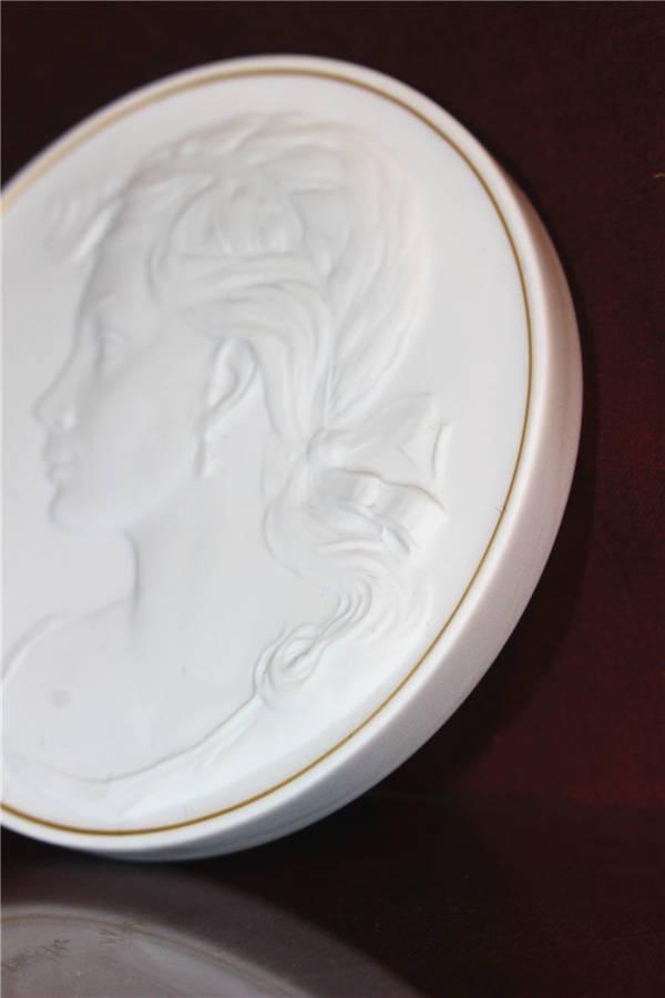 【華】ーMeissenー マイセン 陶板 メダル 中国美術 〈真作〉 ウ2755_画像9