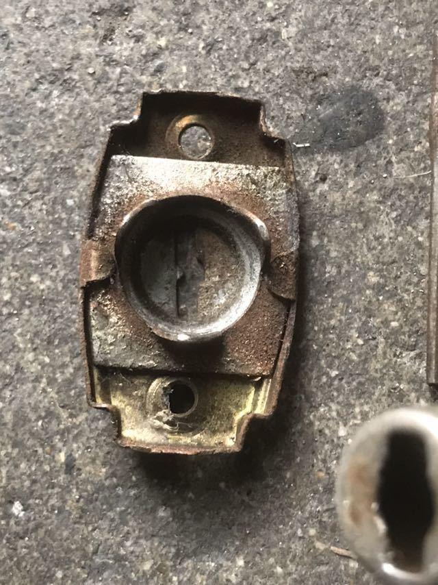 【可動品】古い アンティーク ビンテージ 昭和レトロ 古道具 『格子戸引戸 錠前』_画像7