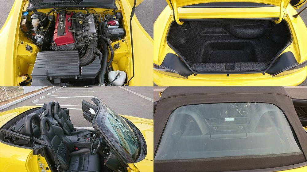 車検32年5月まで 平成11年/5月 ホンダ S2000 F20C 前期 ノーマル 純正 VTEC イエロー 黄色 車検付き EG6 EF9 DC2 DC5 SIR B16A大阪府から_画像8