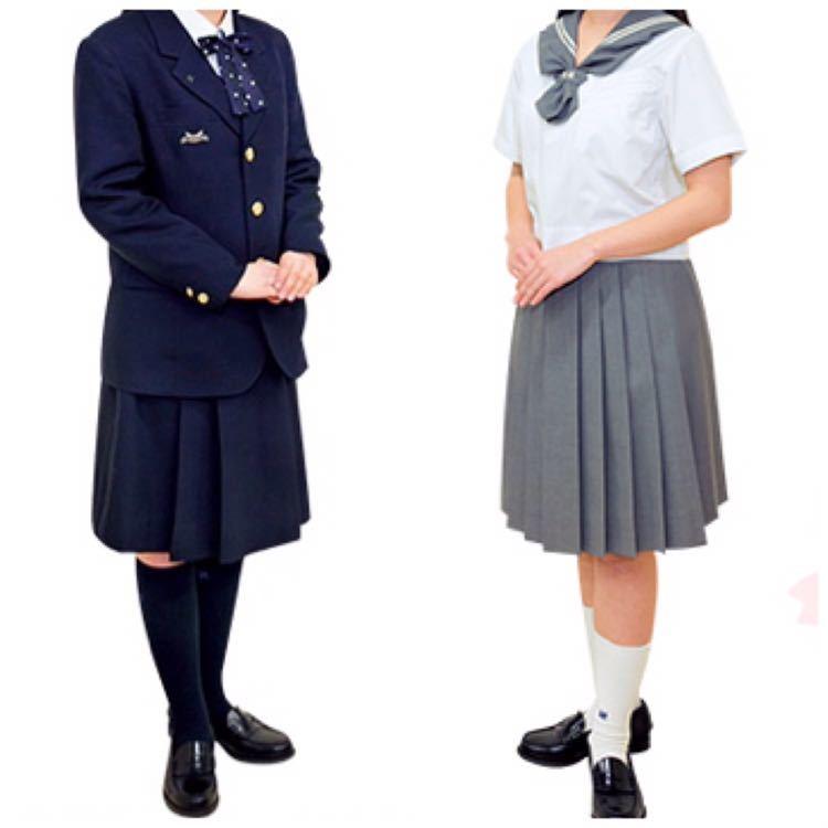 東京都 日本大学櫻丘高校の女子制服 13点フルセット 校章付き 人気のグレーセーラー服